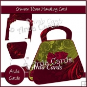 Crimson Roses Handbag Card