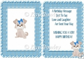 Cute Puppy in blue gingham frame A5 Insert