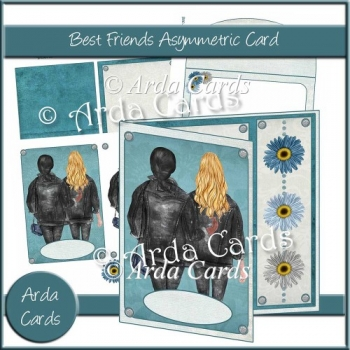 Best Friends Asymmetric Card