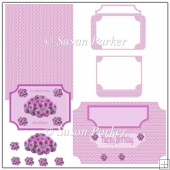 Pink Button Daisy Easel Card