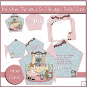 Polly Put The Kettle On Pentagon Tri Fold Card