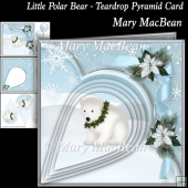 Little Polar Bear - Teardrop Pyramid Card