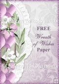 FREE Wreath of Wishes Backing Background Paper