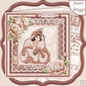 ART DECO LADY 7.5 IN MINK Decoupage & Insert Kit