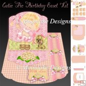 Cutie Pie Birthday Easel Card Topper Kit