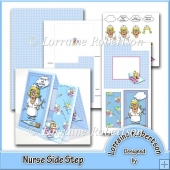 Nurse 'Get Well' Side Step Decoupage