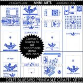 Delft Bluebird Printable Crafts Kit