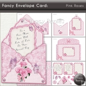 Fancy Envelope Card: Pink Roses