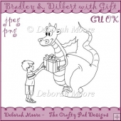 Bradley and Dilbert Dragon with Gift CU Digital Stamp