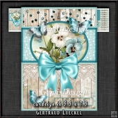 Vintage Card Topper Kit Blue 1371