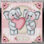Valentine Elephants Mini Kit Valentines Engagement Anniversary