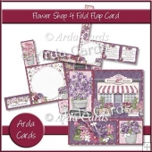 Flower Shop 4 Fold Flap Card