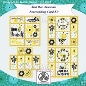 Bee Awesome NeverEnding Card Kit or Ha-Bee Birthday Never Ending