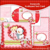Snowcute Scalloped Tent Card