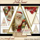 Triangle Card Hello Santa