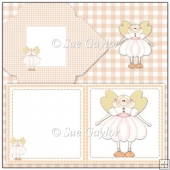 Fairy Mini Card + Matching Envelope and Backing Paper