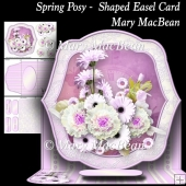Spring Posy - Shaped Easel Card