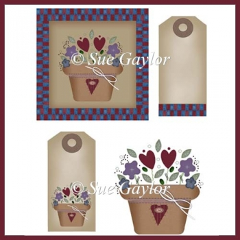 Primitive Country Card Toppers + Tags