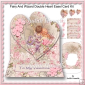 Fairy And Wizard Double Heart Easel Card Kit