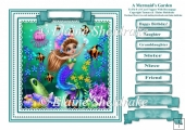 A Mermaids Garden (1) - Square Card Topper With Family Greetings