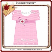 005 Baby Dress Card *HAND & MACHINE Formats*