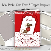 Mini Pocket Card Front & Topper Template