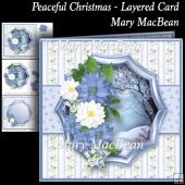 Peaceful Christmas - Layered Card