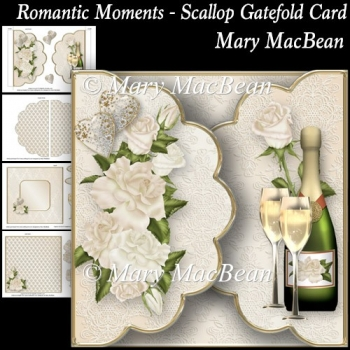 Romantic Moments - Scallop Gatefold Card