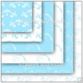 Blue and White Flourish Theme Papers