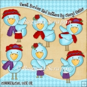 Sweet Birdies Red Hatters ClipArt Graphic Collection