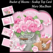 Bucket of Blooms - Scallop Top Card