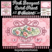 Pink Bouquet Card Front and Insert