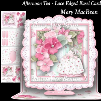 Afternoon Tea - Lace Edged Easel Card