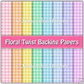 8 A4 Floral Twist Backing Papers