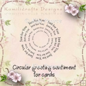 Circular Greeting Sentiment For Cards