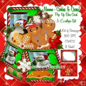 CHRISTMAS COOKIES AND COCOA 3D POP UP BOX CARD KIT