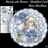 Bicycle with Flowers - Medallion Card