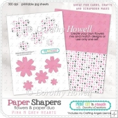Paper Shapers Flowers - Pink Hearts