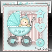 Baby Boy in Pram Mini Kit