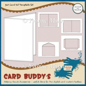5x7 Card Kit Template Set
