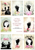 Toppers or ATC Cards - Victorian Ladies Silhouettes