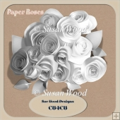 Designer Resource Paper Roses CU4CU