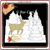 536 White Christmas Card *Multiple MACHINE Formats*