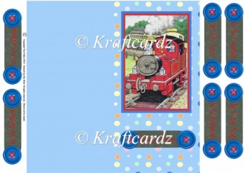 Tobias The Tank Engine DL size Quick and Easy Card (JPEG)