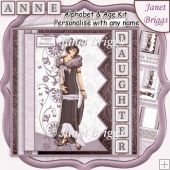 ART DECO LADY 7.5 Alphabet and Age Quick Card Kit Add Any Name