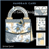Handbag Card Kit Winterroses