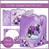 Tea Rose Scalloped Gatefold Card