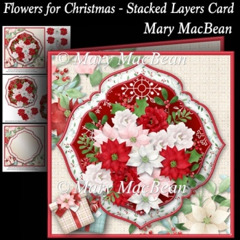 Flowers for Christmas - Stacked Layers Card