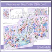 Forget-Me-Not Fairy Z Fold Card