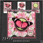 Beautiful Wreath Butterfly Card Topper 1244